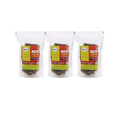 Kit com 3 Torradinhas de Batata Doce e Açaí Sem Glúten e Lactose 100g