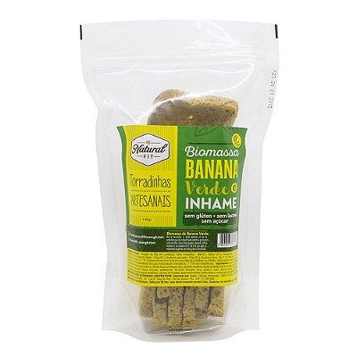 Torradinha Artesanal de Biomassa de Banana Verde e Inhame Sem Glúten e Lactose 100g