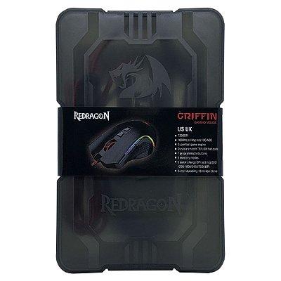 Mouse Gamer Redragon Griffin Preto RGB 7200dpi