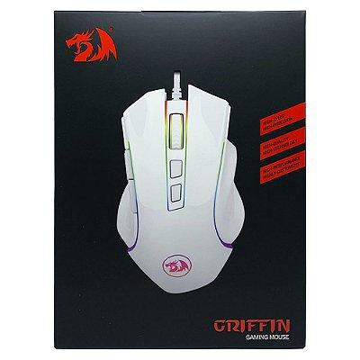 Mouse Gamer Redragon Griffin Branco RGB 7200dpi