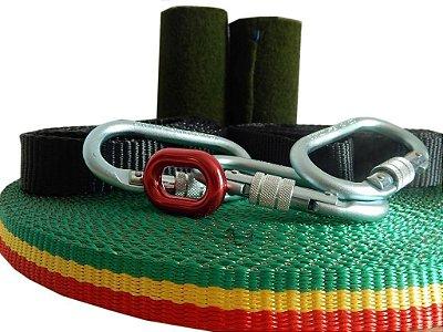 Kit Slackline Longline - Wave Yoga Balance 25 Metros