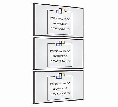 PERSONALIZADO - 3 QUADROS RETANGULARES - CORREDOR