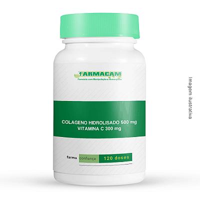 Colágeno Hidrolisado 500 Mg + Vitamina C 300 Mg