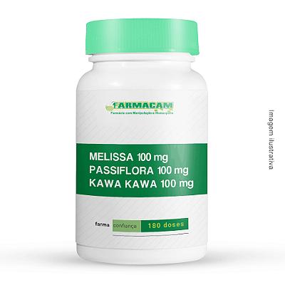 Melissa 100 Mg + Passiflora 100 Mg + Kawa Kawa 100 Mg