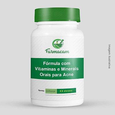 Fórmula com Vitaminas e Minerais Para Acne - Uso Oral
