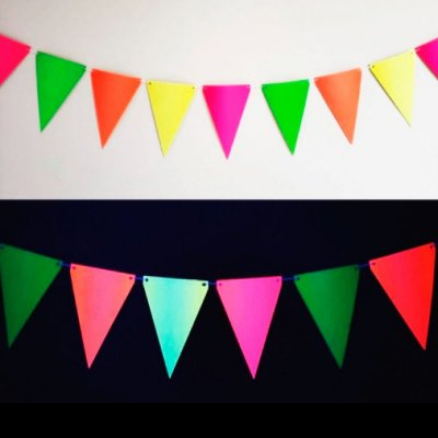 Bandeirinhas Neon