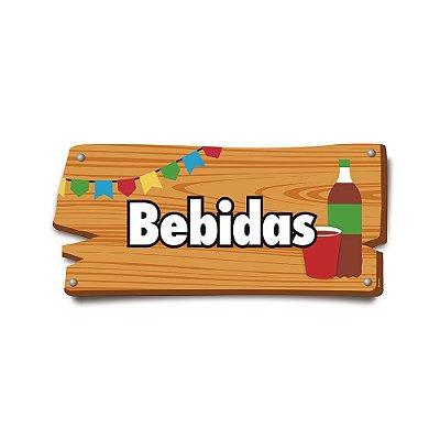 Plaquinha Festa Junina Bebidas