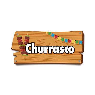 Plaquinha Festa Junina Churrasco