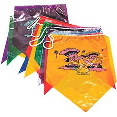 Bandeira Plástica Junina Ilustrada - 10 metros