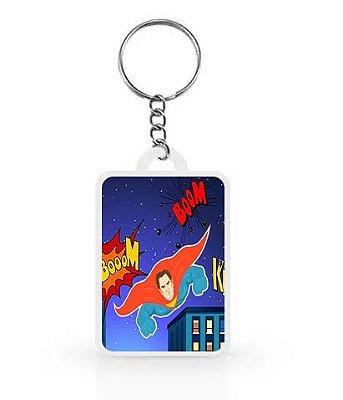 Chaveiro para Lembrancinhas Super Herói - 1 unidade