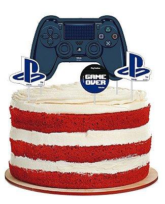 Topo de Bolo Playstation