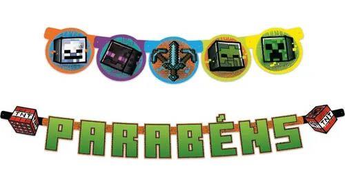 Faixa Parabéns Minecraft