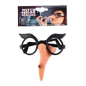 Óculos com Nariz de Bruxa