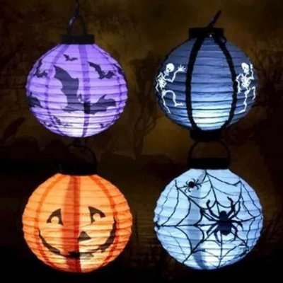 Lanterna Halloween com Luz