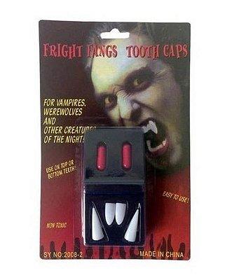 Dentes de Vampiro com Cápsula de Sangue
