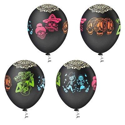 Balão Caveira Pirata - 25 unidades