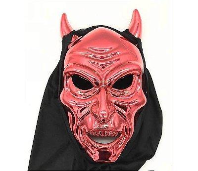 Máscara Chifres Vermelhos com Capuz