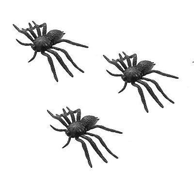 Mini Aranhas de Borracha - 12 unidades