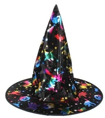 Chapéu de Bruxa Holográfico