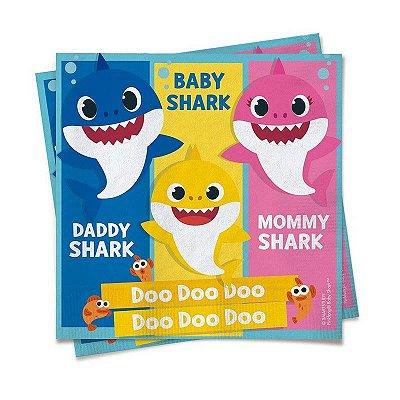 Guardanapo Baby Shark - 20 unidades