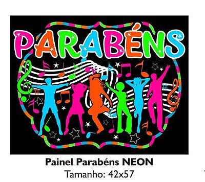 Painel Notas Parabéns Neon