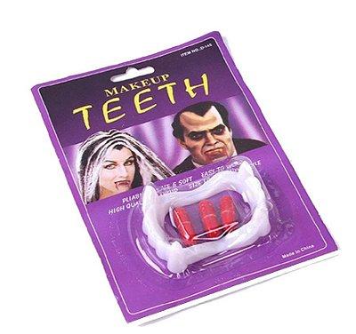 Dentes de Vampiro Pequeno com Cápsula de Sangue