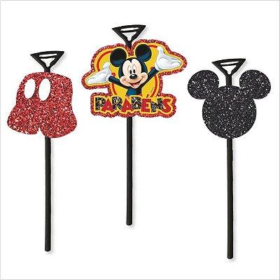 Topo de Bolo com Vareta Mickey
