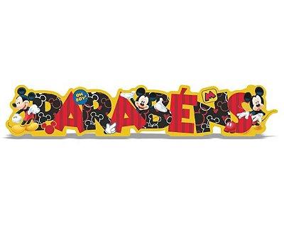 Enfeite de Mesa Parabéns Mickey