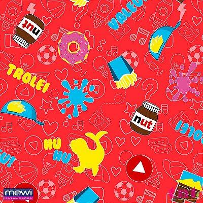 TNT Estampado Mundo Luccas - 1 metro