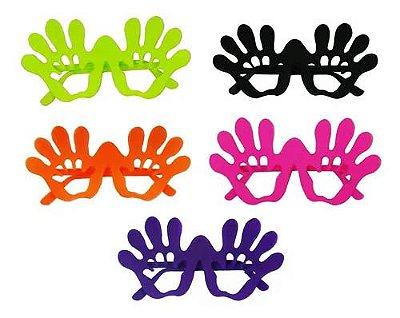 Óculos Mão Colorido Neon - 10 unidades