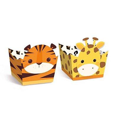 Porta Forminha Safari Girafa Tigre - 24 unidades