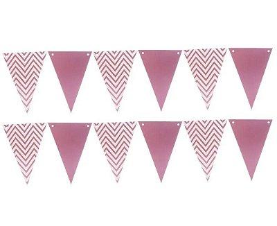 Bandeirola de Papel Metalizado Pink