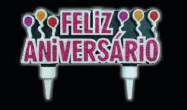 Vela Feliz Aniversário Pink