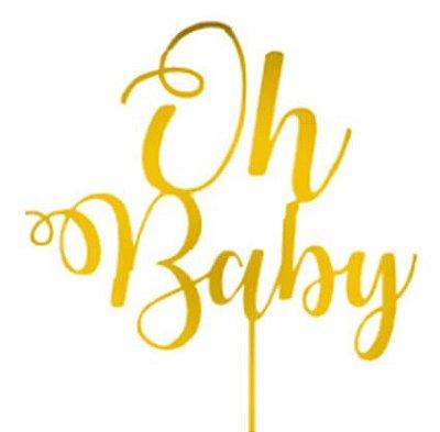 Topo de Bolo Oh Baby