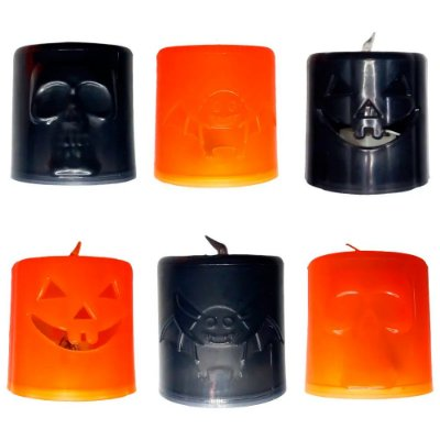 Mini Vela Halloween - 1 un
