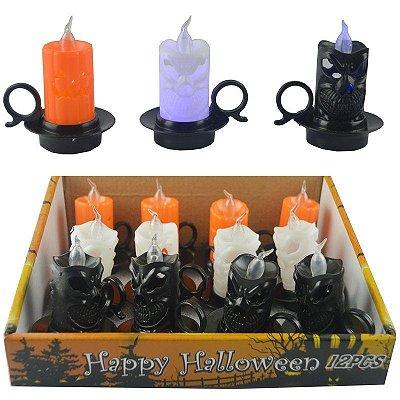 Mini Vela Led Pires Halloween - 1 un