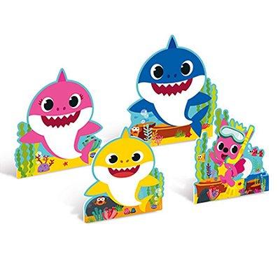 Enfeite de Mesa Baby Shark - 4 unidades
