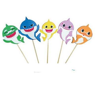 Topo de Bolo Baby Shark 5 un