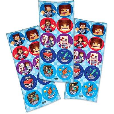 Adesivo Decorativo Redondo Authentic Games - 3 cartelas