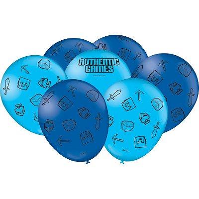 Balão de Festa Authentic Games - 25 unidades