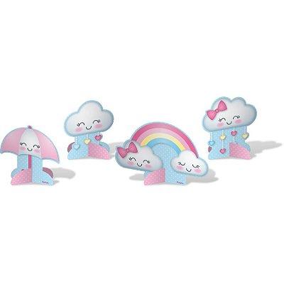 Decoração de Mesa Chuva de Amor - 8 unidades