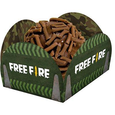 Porta Forminha para Doces Free Fire - 40 unidades