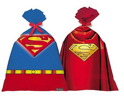 Sacola de Festa para Lembrancinhas Superman- 8 unidades