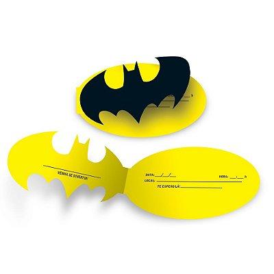 Convite Batman - 8 unidades
