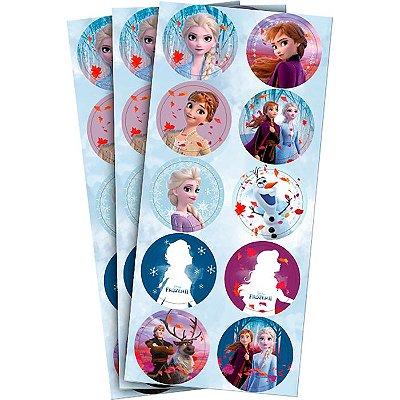 Adesivo Frozen - 3 cartelas