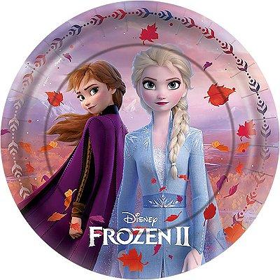 Prato de Festa Frozen - 12 unidades