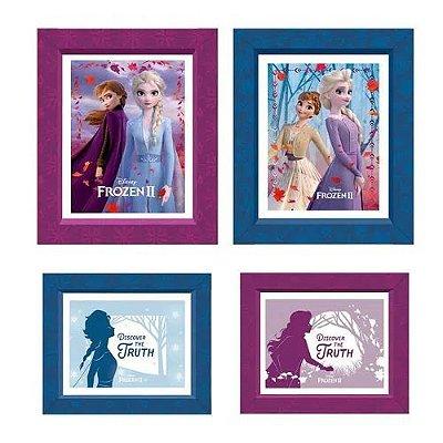 Quadrinhos Decorativos Frozen - 4 unidades