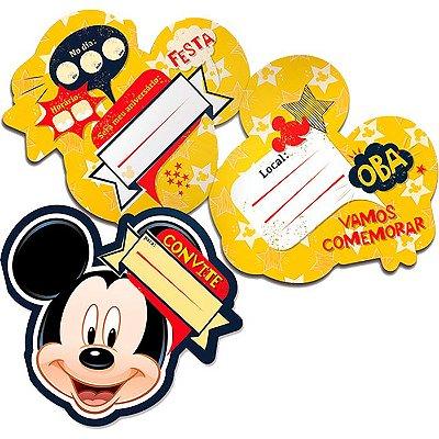 Conivite de Festa Mickey - 8 unidades
