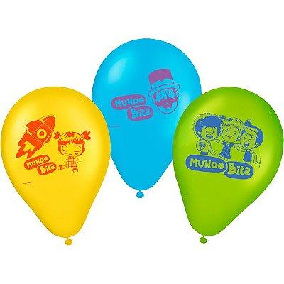 Balão de Festa Mundo Bita - 25 unidades