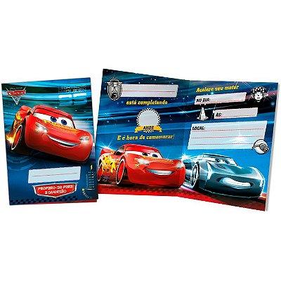 Convite de Festa Carros Disney - 8 unidades